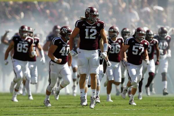 Texas A&M's Cullen Gillaspia never lacks for enthusiasm upon donning the prestigious No. 12 jersey. He also has made some key plays for the Aggies.