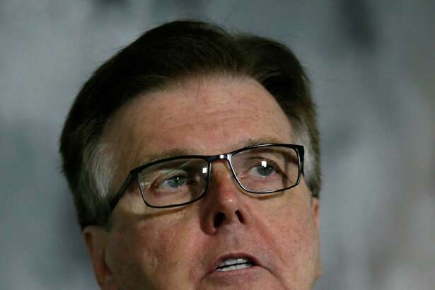 "FILE - This May 13, 2016 file photo shows Texas Lt. Gov. Dan Patrick speaking during a news conference at the Texas Republican Convention in Dallas. Patrick has deleted a tweet quoting the New Testament that he posted after the deadly Orlando nightclub shooting. Hours after the Sunday, June 12, 2016 shooting at a gay nightclub that left at least 50 people dead, Patrick sent a tweet from his personal account: ""Do not be deceived. God cannot be mocked. A man reaps what he sows."" (AP Photo/LM Otero, file)"