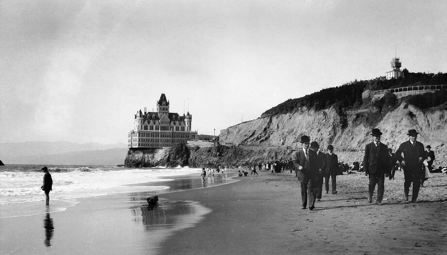 The Cliff House, seen from Ocean Beach around 1911, sits sentry at the edge of San Francisco. Photo: Unknown, Sfc