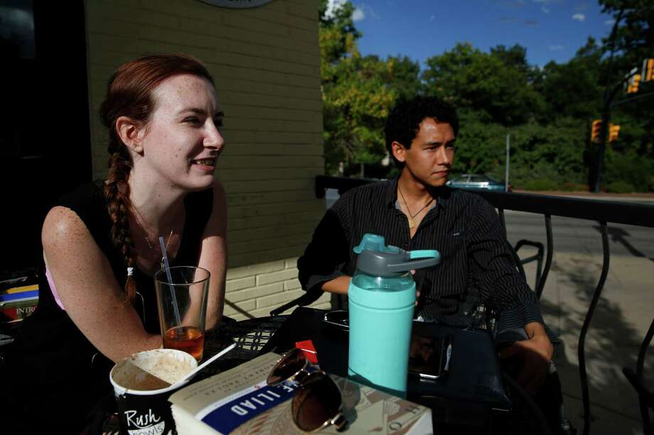 College students discuss politics at the University of Colorado in Boulder, Colo. The new battleground in this election are disgruntled 20-something voters who — according to most polls — don't support either Donald Trump or Hillary Clinton. Photo: Brennan Linsley /Associated Press / Copyright 2016 The Associated Press. All rights reserved.