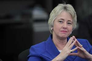 Houston Mayor Annise Parker listens to questions by the Houston Chronicle editorial board. Chron readers also were present at the meeting with questions ready for the Mayor. Friday, Oct. 11, 2013, in Houston. ( Marie D. De Jeséºs / Houston Chronicle )