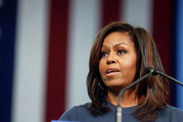 First lady Michelle Obama told Hillary Clinton supporters Thursday that Donald Trump's attitudes and behavior toward women 'has shaken me to my core.'