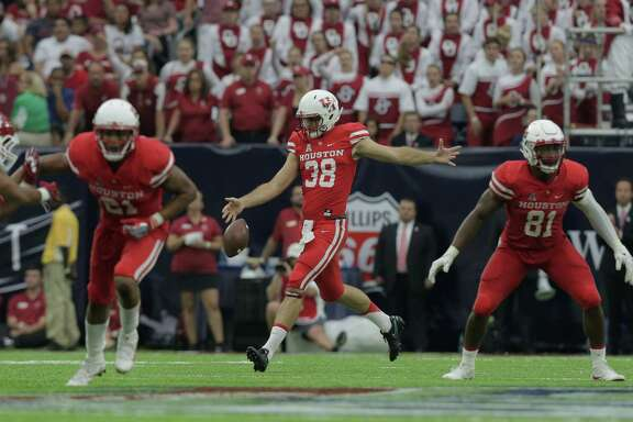 The first college football game Dane Roy attended was also his first as a player - UH's 33-23 upset of then-No. 3 Oklahoma on Sept. 3 at NRG Stadium.