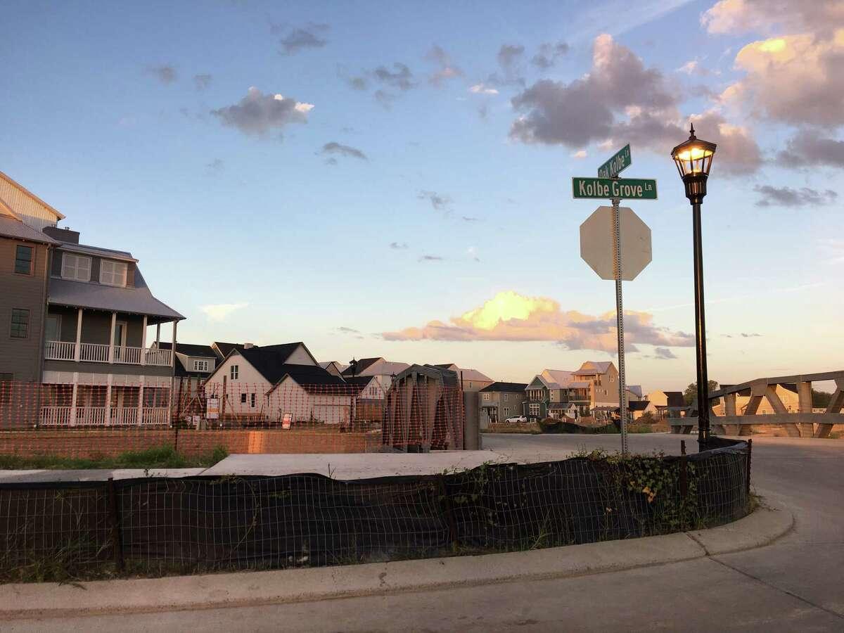 A new housing development in Spring Branch.