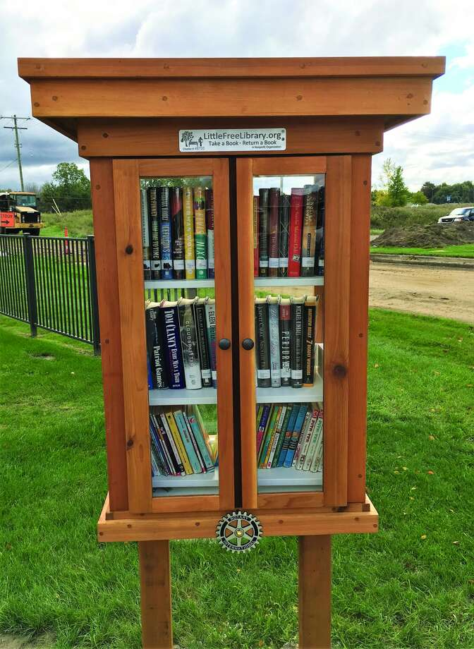 """This """"Take a book — Leave a book"""" library is available for use by any member of the community. (Submitted Photo)"""