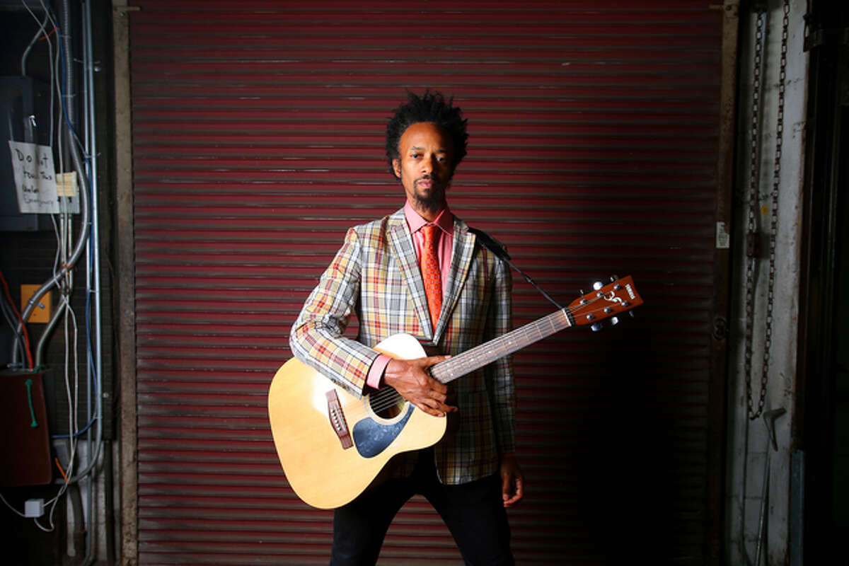 Musician Xavier Dphrepaulezz, who performs as Fantastic Negrito, is photographed on Monday, Feb. 23, 2015, in Oakland, Calif. (Aric Crabb/Bay Area News Group)