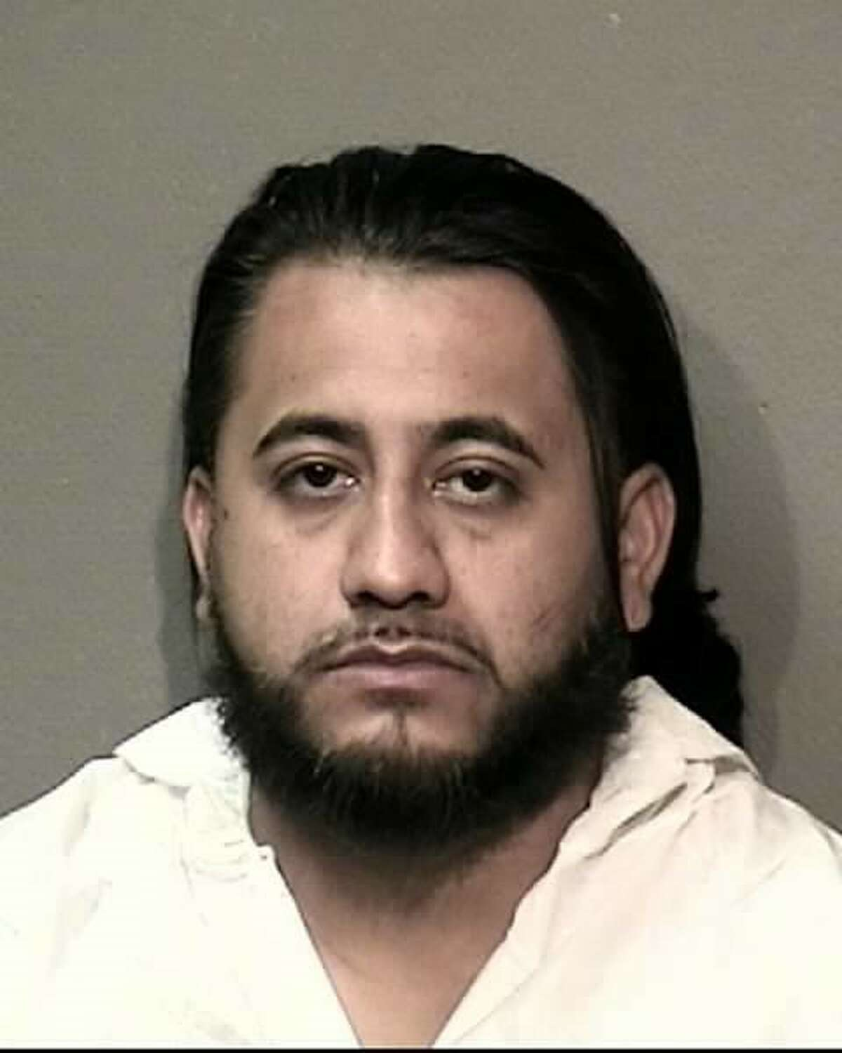 Ismael Gonzalez, 32, is charged with aggravated assault against a public servant and felony evading arrest after a police chase about 1:30 a.m. Thursday, Oct. 13, 2016 that ended in the 4000 block of Redbud in south Houston. (Houston Police Department)