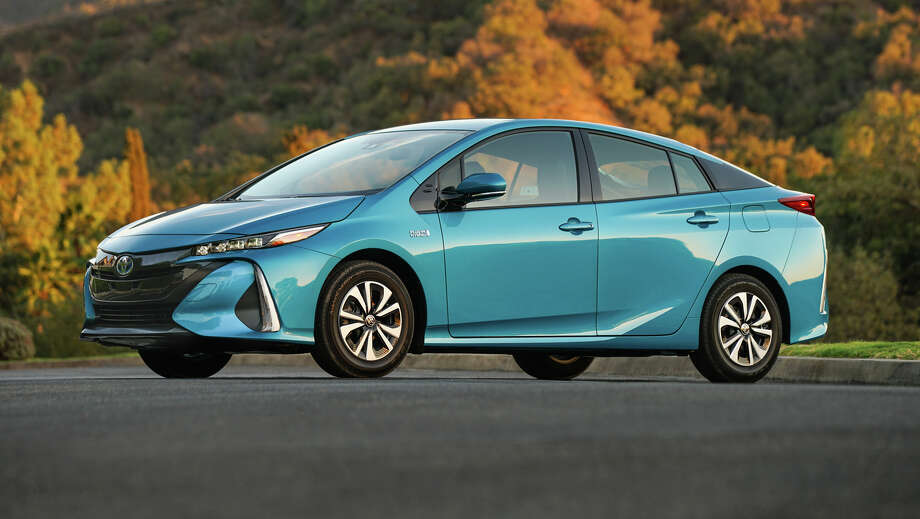 For 2017, the new, longer and lower  plug-in Prius gets a new name and a serious facelift with  low-profile LED headlights, front fascia and grille. Photo: Toyota / dewhurstphoto