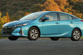 For 2017, the new, longer and lower plug-in Prius gets a new name and a serious facelift with low-profile LED headlights, front fascia and grille.