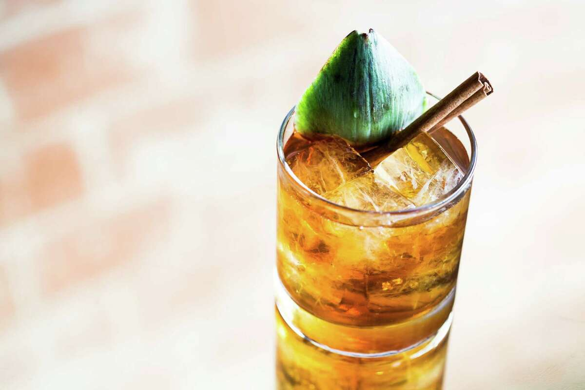 English in What (fig-infused Grand-Dad Bonded Bourbon, Cynar, Punt e Mes Sweet Vermouth, cinnamon, and tiki bitters) is one of the seasonal cocktails now being offered at Anvil Bar and Refuge.