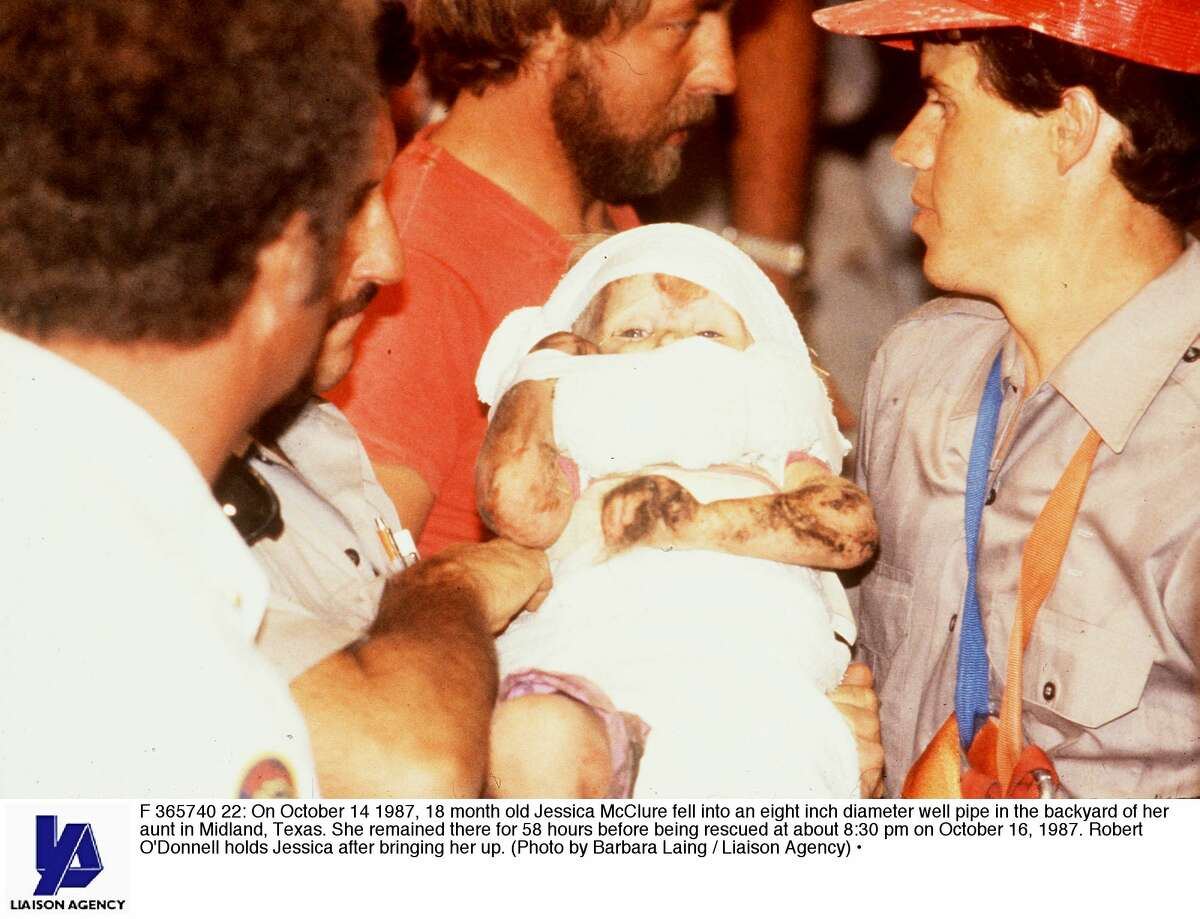 On this date in 1987, Baby Jessica McClure fell down a well in the backyard of her family's Midland home. The story of the 18-month-old girl, scared and cold at the bottom of a well, captivated the world. Her safe retrieval was even broadcast live on CNN.