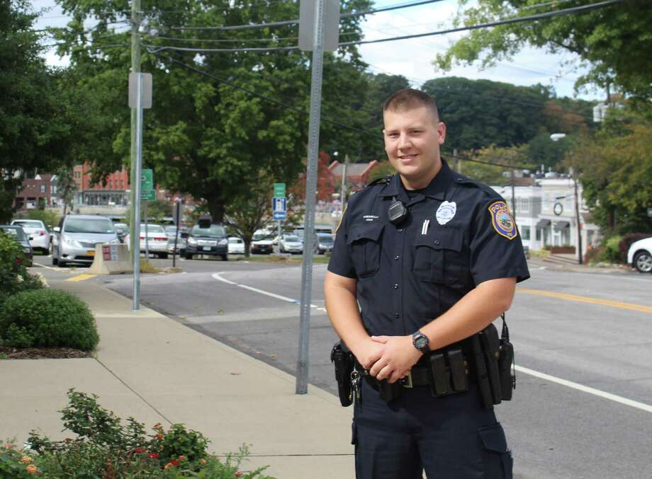 Officer Michael Tomanelli graduated from the Police Academy in September as Westport's first new hire that the department put through the academy since 2009. Photo: Laura Weiss / Hearst Connecticut Media / Westport News
