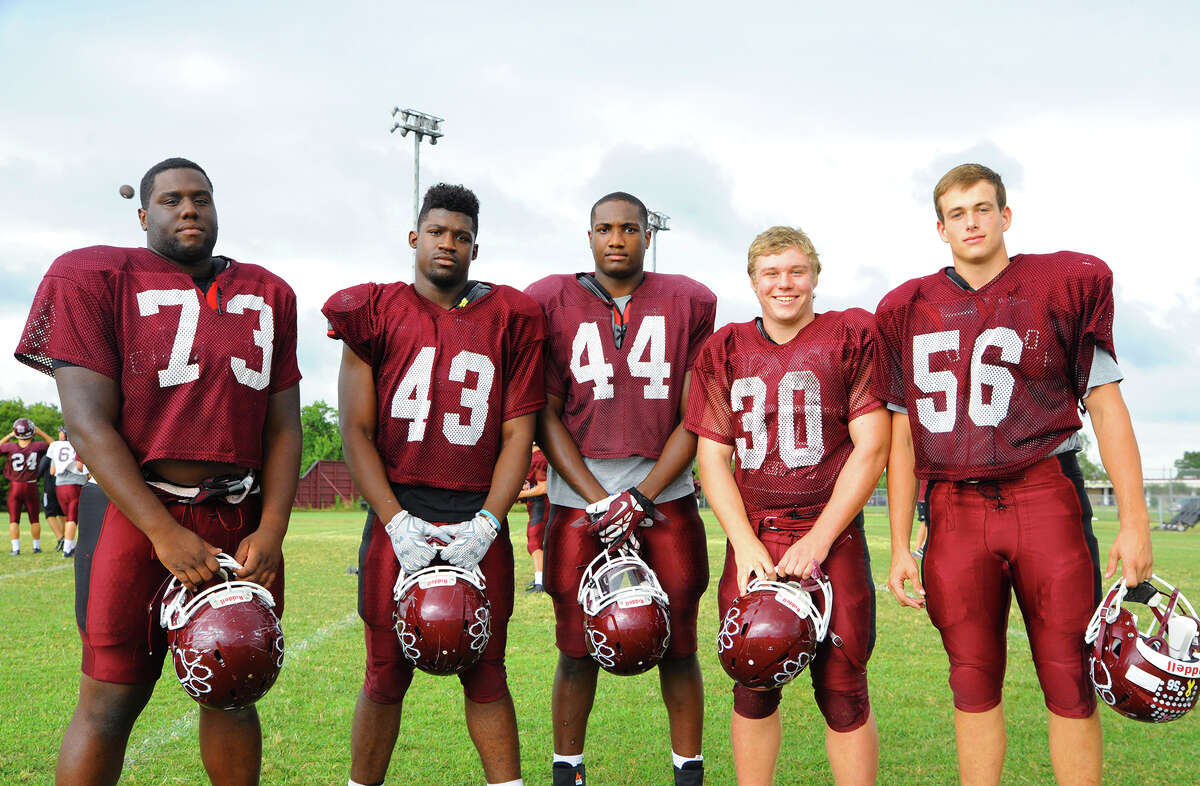 The Cy-Fair defensive front has been a strength all season. Captained by Hunter Adams (left), the D-line has controlled the line of scrimmage, capitalizing on bruising, physical play and savvy veteran leadership.