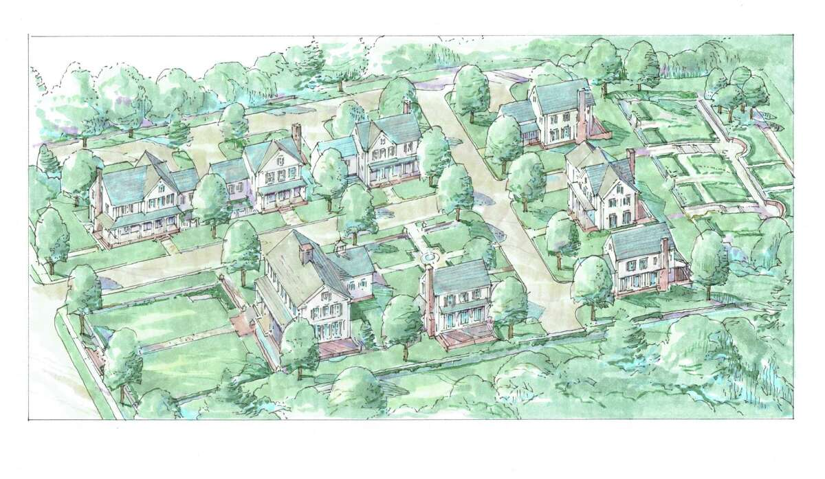 An architectural rendering of the proposed residential redevelopment of the 1.7 acre parcel of land in New Canaan, where the Roger Sherman Inn is located.