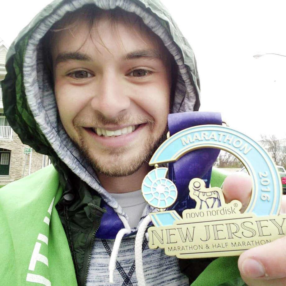 Liam Gobert Brown ran the New Jersey Marathon in May. Photo: Contributed Photo / Darien News