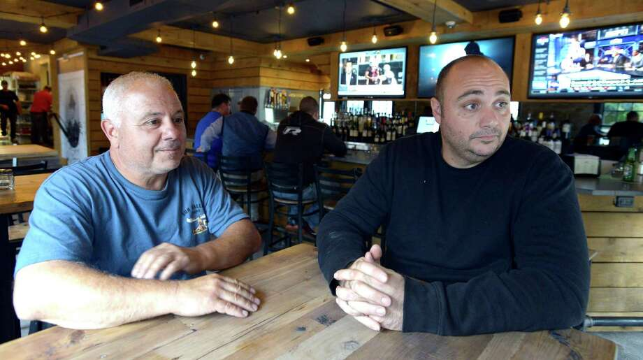 Rico Imbrogno and Luigi Cardillo Jr., Co-Owners of Riko's Pizza are interviewed at their newest location on Hope Street in Stamford on Oct. 13, 2016. Photo: Matthew Brown / Hearst Connecticut Media / Stamford Advocate