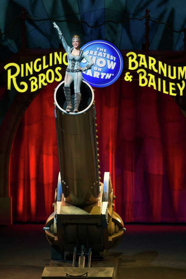 "Ringling Bros. and Barnum & Bailey's Circus Xtreme stops at the Webster Bank Arena in Bridgeport for six performances, Thursday, Oct. 20, through Sunday, Oct. 23. Above is ""Nitro Nicole — The Human Cannonball."" Photo: Circus Xtreme / Contributed Photo / Connecticut Post Contributed"