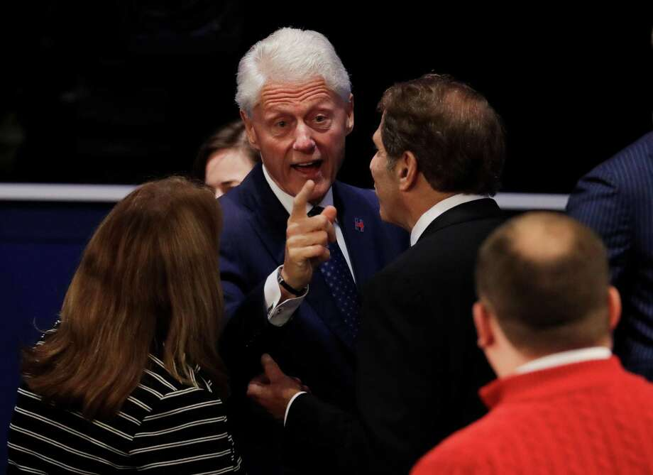 Should we really be surprised. The presidential race apparently is to determine which is the worst man on the stage — Bill Clinton or Donald Trump. Never mind that Hillary Clinton is the one running for president. Photo: Patrick Semansky /Associated Press / Copyright 2016 The Associated Press. All rights reserved.