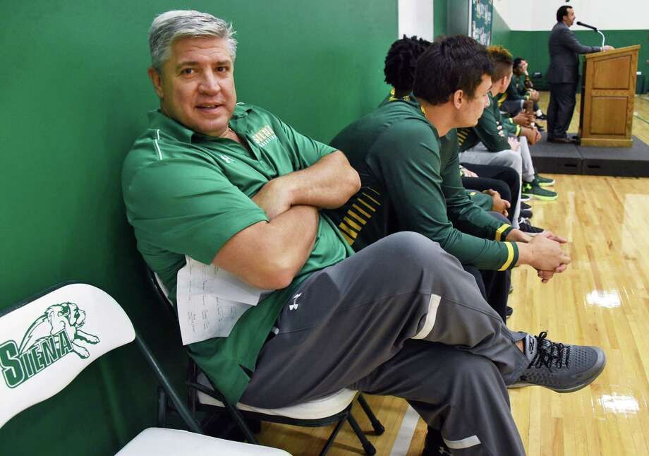 Head Coach Jimmy Patsos during Siena men's basketball Media Day news conference Friday Oct. 14, 2016 in Colonie, NY.  (John Carl D'Annibale / Times Union) Photo: John Carl D'Annibale / 20038370A