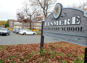 Students are let out of school early at Elsmere Elementary School due to Hurricane Sandy on Monday, Oct. 29, 2012 in Delmar, N.Y. (Lori Van Buren / Times Union)