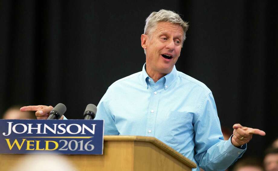 Polls show that young voters favor Libertarian presidential candidate Gary Johnson. Photo: Scott Morgan / Associated Press / FR92386 AP