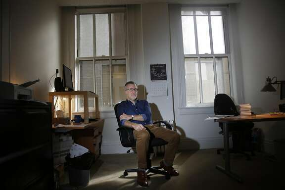 Ted Weinstein, literary agent, sits for a portrait at his office on Tuesday, October 11,  2016 in San Francisco,  California.