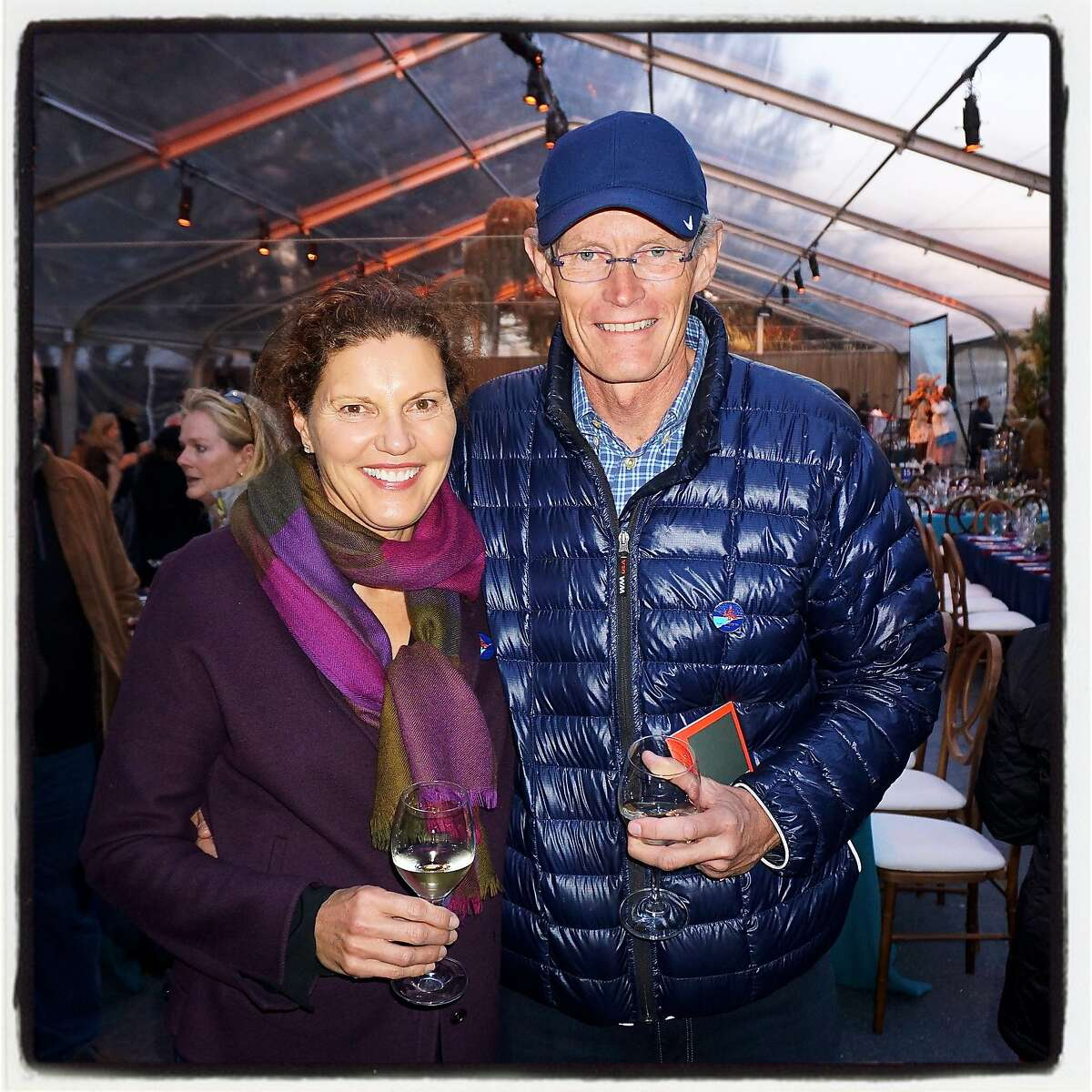 Anne Lind and her husband, GGNPC Board Chairman Colin Lind, at the Trails Forever dinner. Sept 2016.