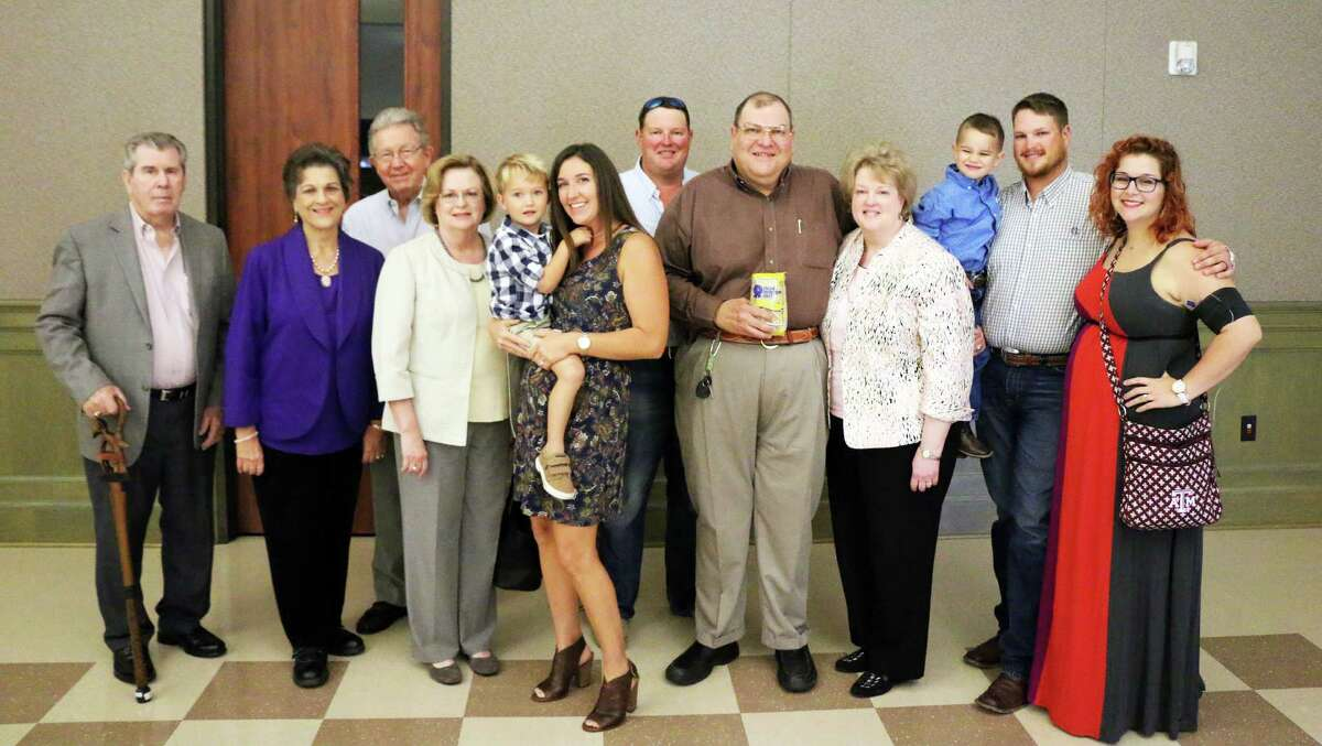 The Ray Stoesser family at the Liberty-Dayton Chamber of Commerce.