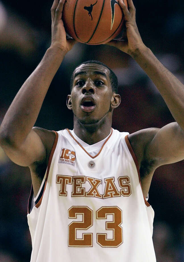 Texas forward LaMarcus Aldridge is shown during a game Nov. 2, 2005, in Austin, Texas. Winner of 12 of its last 13 games, Texas plays Nebraska at home Saturday, Feb. 11. (AP Photo/Harry Cabluck) Photo: HARRY CABLUCK, STF / AP / AP