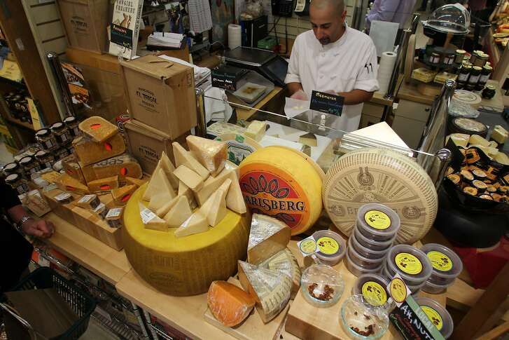 The cheese counter at Cal Mart grocery store in downtown Calistoga.