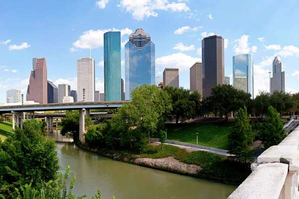 Houston skyline at Buffalo Bayou Bridge (Getty Images)