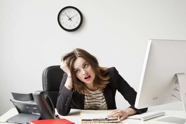 18. You're irritable    If you're miserable at work, you might find yourself snapping at your coworkers simply for having their phone go off or for chewing too loudly.  Even worse, your new grouchy attitude might follow you home, straining relationships with friends and family members.
