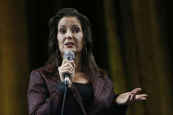Mayor Libby Schaaf delivers the State of the City speech at Oakland City Hall Oct. 14, 2016 in Oakland, Calif.