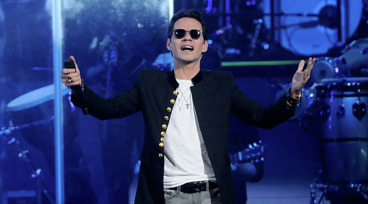 Marc Anthony performs at the Toyota Center on Friday.