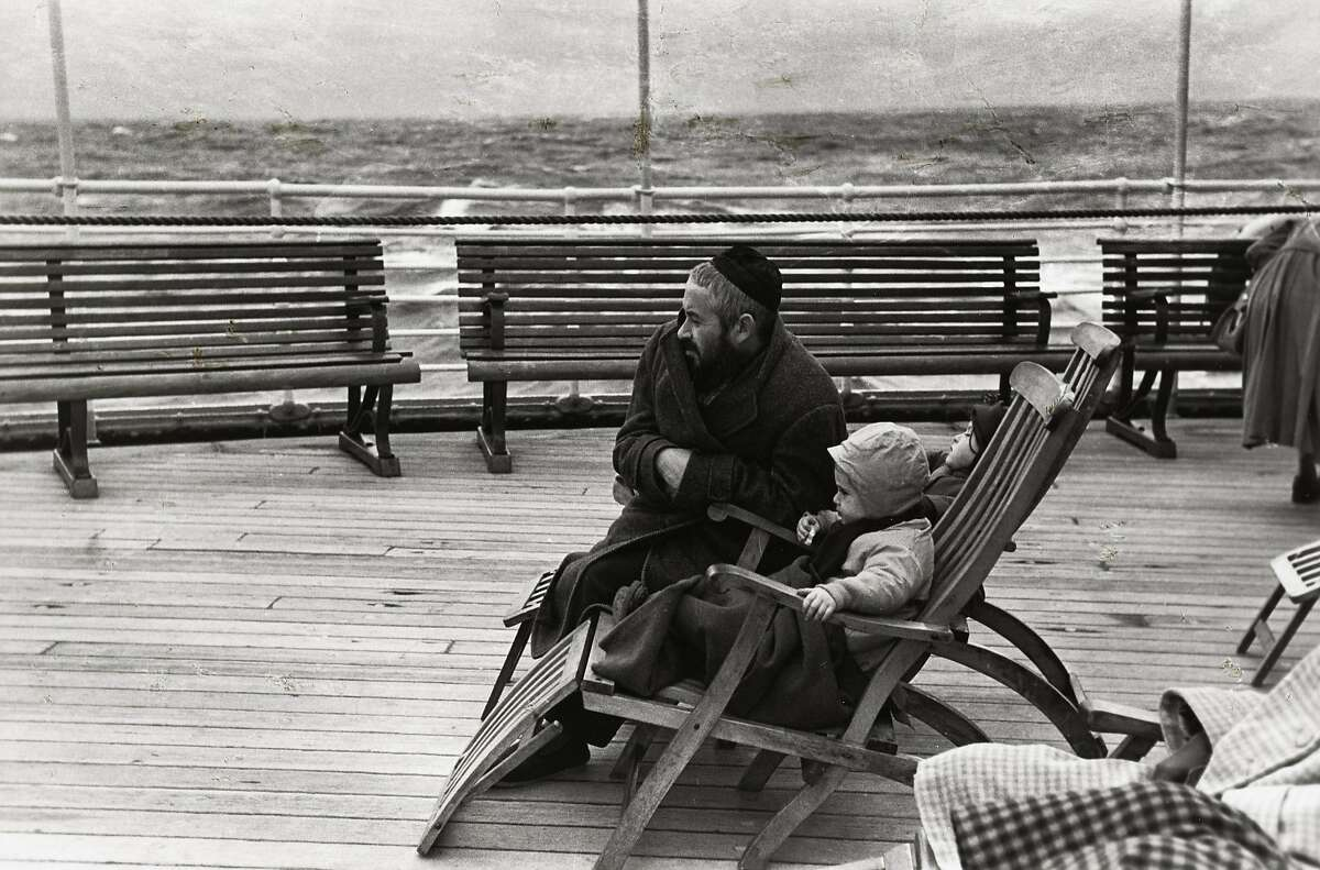 """""""Coming to America"""" (c. 1951) Gelatin silver print by Louis Stettner 9 x 14 in. The Jewish Museum, New York"""
