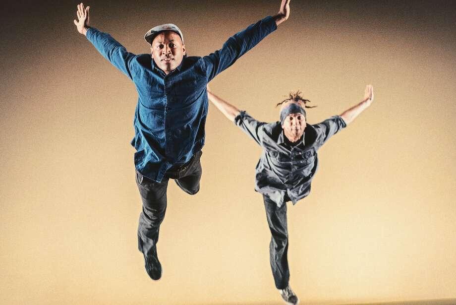 "Rama Mahesh Hall (left) and Dante ""Animal"" Rose in ""Seed Language."" Photo: Andrew Weeks"