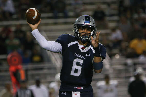 College Park's (6) throws a pass against Conroe on Friday at Woodforest Bank Stadium in Shenandoah.