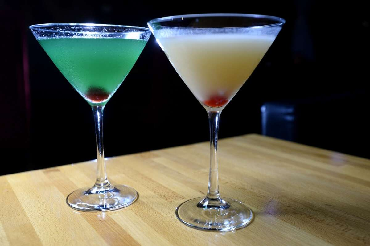 The (6) Loch Ness, left, and (7) Pineapple Pearl Saketini at Koi Sushi Bar and Lounge.