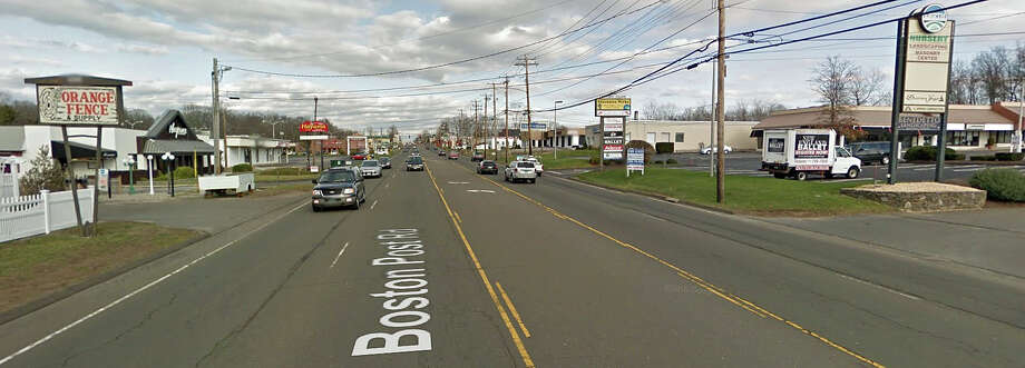 A pedestrian was struck in front of 205 Boston Post Road in Orange Friday night and later died of their injuries. At about 9:45 p.m. Friday, the victim was walking east on the south side of the Boston Post Road and was struck while attempting to cross to the north side of the roadway. This image shows the area of the Post Road where the accident happened. The victim has not yet been identified by police. Photo: Google Street View