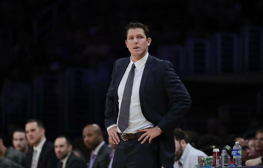 Los Angeles Lakers head coach Luke Walton watches action during the first half of an NBA preseason basketball game against the Denver Nuggets, Friday, Oct. 7, 2016, in Los Angeles. (AP Photo/Jae C. Hong) Photo: Jae C. Hong, Associated Press