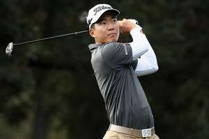 NAPA, CA - OCTOBER 14:  Michael Kim tees off on the seventh hole during the second round of the Safeway Open at the North Course of the Silverado Resort and Spa on October 14, 2016 in Napa, California.  (Photo by Ezra Shaw/Getty Images)