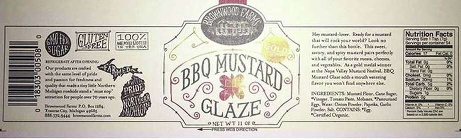 Brownwood Farms of Williamsburg, MI is recalling approximately 15,000 total units of the listed products, because they contain undeclared soy or Yellow #5 food coloring. Photo courtesy of the U.S. Food and Drug Administration. Photo: Contributed
