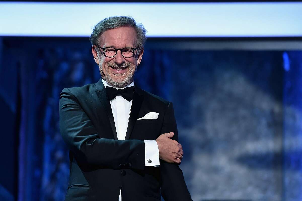 HOLLYWOOD, CA - JUNE 09: Director Steven Spielberg speaks onstage during American Film Institute?s 44th Life Achievement Award Gala Tribute show to John Williams at Dolby Theatre on June 9, 2016 in Hollywood, California. 26148_005 (Photo by Alberto E. Rodriguez/Getty Images for Turner)