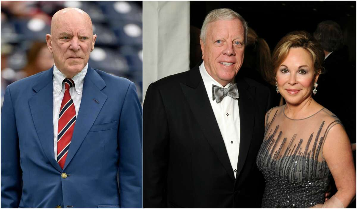 In July, Houston Texans owner Bob McNair (left), who made his money in power plants, donated $5,400 to Donald Trump's campaign. But most of the biggest and reliably Republican donors have not given Trump a cent, according to data compiled by the nonpartisan Center for Responsive Politics. They include Richard Kinder, founder of pipeline giant Kinder Morgan, who is seen here with his wife, Nancy, at a gala.