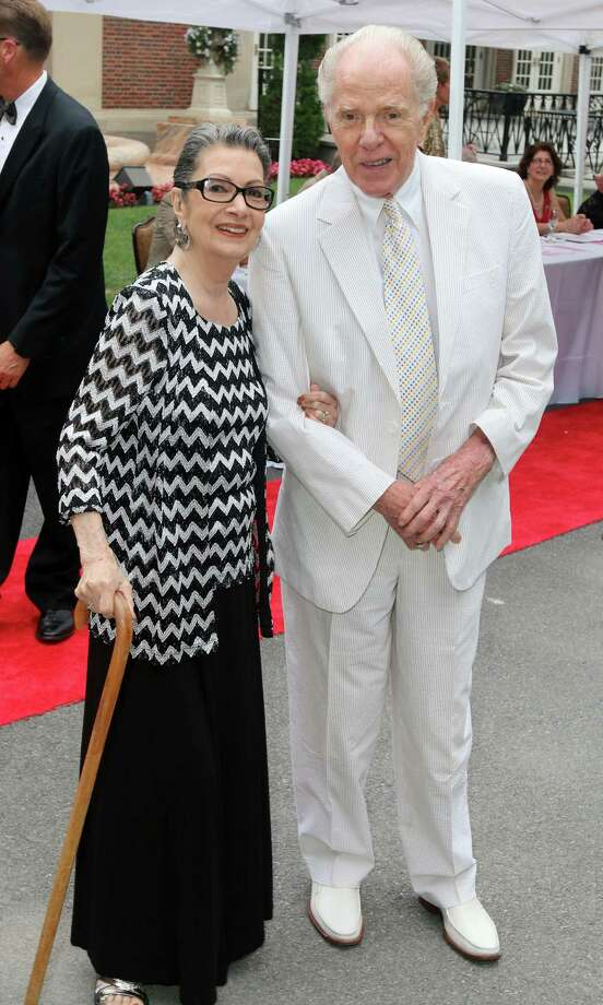 Saratoga Springs, NY - July 23, 2016 - (Photo by Joe Putrock/Special to the Times Union) - Pulitzer Prize Winning Author William Kennedy(right) and his wife Dana(left) arrive at the Saratoga Performing Arts Center 50th Anniversary Gala held at the Hall of Springs and on the lawn at SPAC in Saratoga Springs. ORG XMIT: 04 Photo: Joe Putrock / Joe Putrock