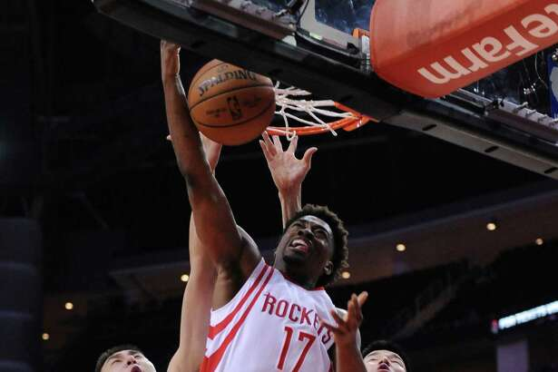 The Rockets made their first roster move of the preseason Sunday, cutting guard Isaiah Taylor (17).