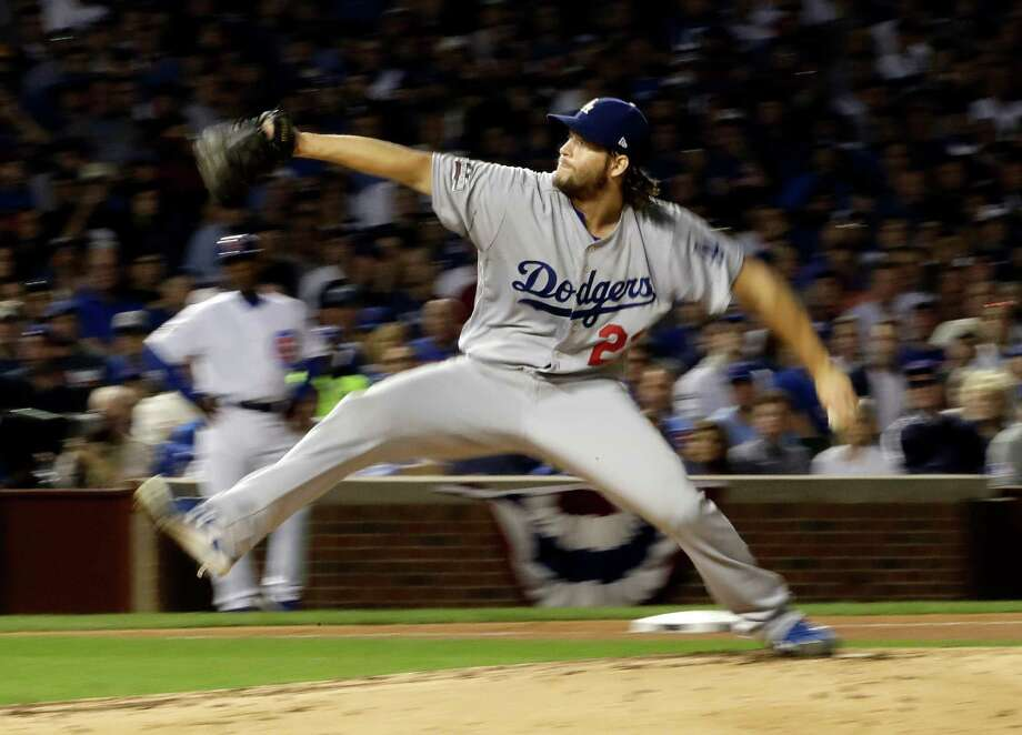 Los Angeles Dodgers starting pitcher Clayton Kershaw (22) throws during the fourth inning of Game 2 of the National League baseball championship series against the Chicago Cubs, Sunday in Chicago. Photo: David J. Phillip, STF / Copyright 2016 The Associated Press. All rights reserved.