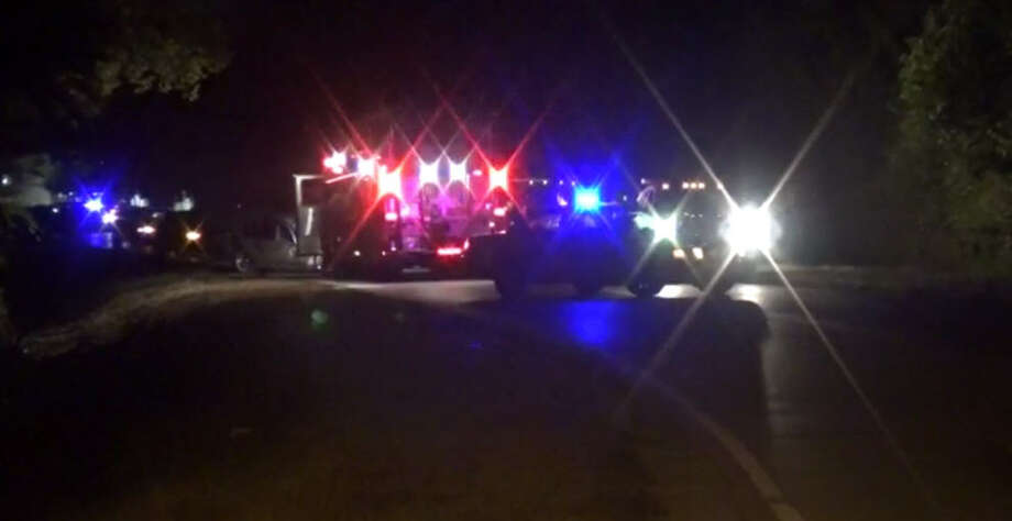 A man died in a traffic crash about 2:45 a.m. Monday, Oct. 17, 2016, in the 2800 block of Almeda Genoa near Furman. (Metro Video)
