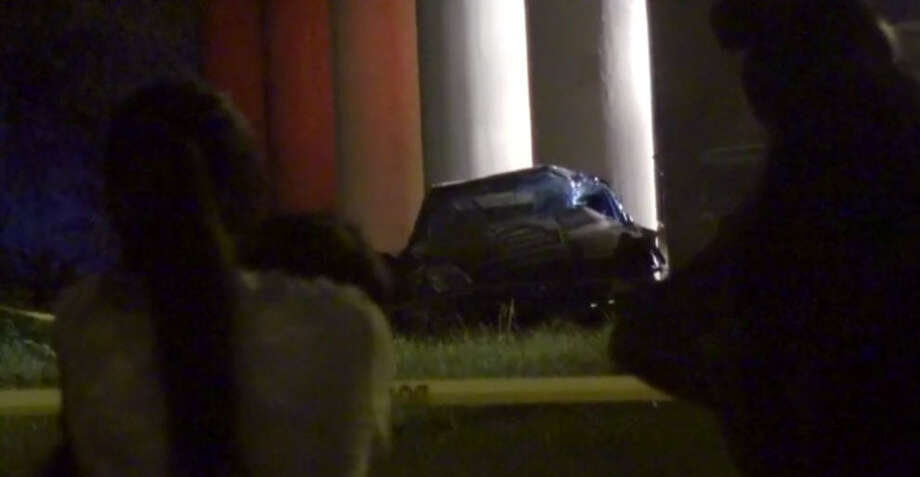 A person died in a traffic crash about 10:30 p.m. Sunday, Oct. 16, 2016, on the service road of the Hardy Toll Road near Crosstimbers. (Metro Video)