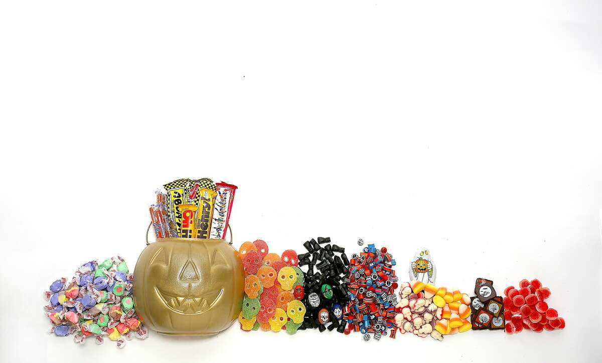Groups of candy on Wednesday, October 12, 2016, in San Francisco, Calif.